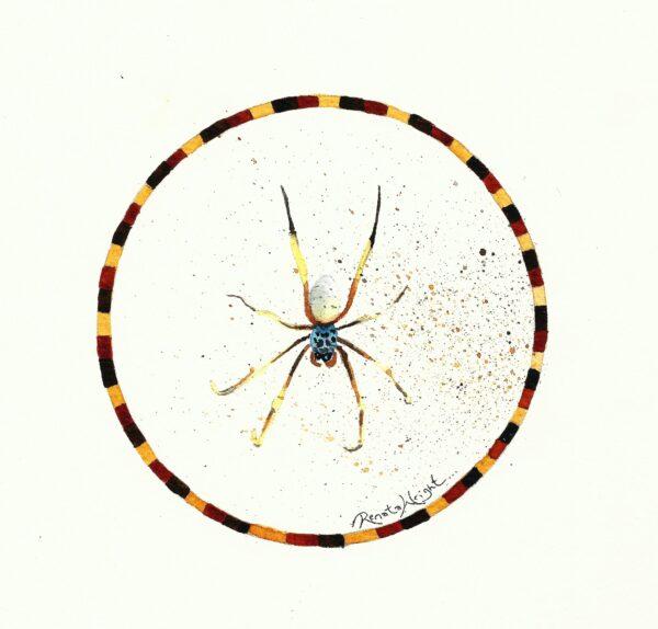 orb spider, orb spider painting, spider painting, spider art, spider artist, orb spider painting